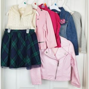 Set of 7 pieces girl clothing size 1(3)-4-5-6-7